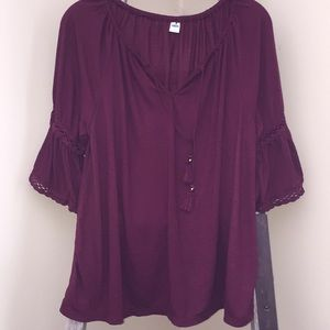 Old Navy burgundy beautiful large top!
